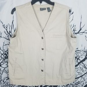 Chico's | Additions Cream Vest Button Down size 2